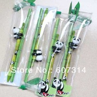 Free shipping wholesale unique ball pen lead pencil stationery set China gift novelty Lovely cute cartoon kawaii panda kid craft
