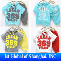 Best Quality In Stock 2013 NEW Children Summer Clothing 100% Cotton 369 Short Sleeve Hoodies+Pants set