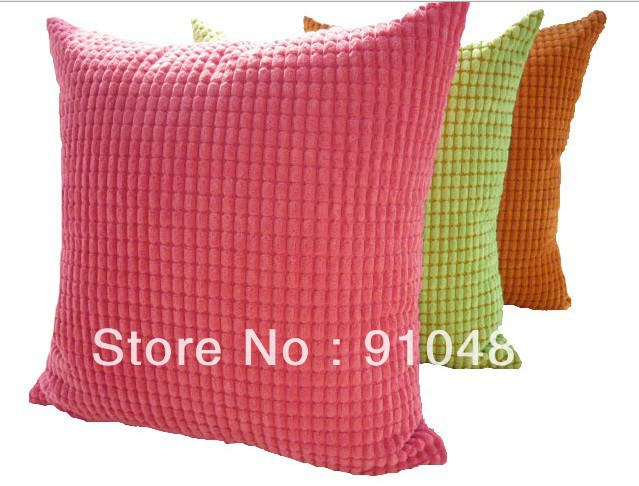 Free Shipping! Nylon /polyester corduroy fabric cushion cover super soft cushion wholesale and retail(China (Mainland))