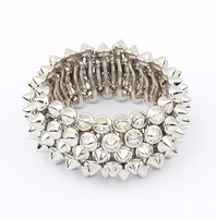 Min. order is $10(mix) 604 rock punk spike statement stretch bracelet new fashion bracelet wholesale jewelry 2013