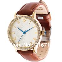 Drop Ship!Famous Brand Watches JULIUS Luxury Vintage Rhinestone Women's Wristwatches,Quartz Round Waterproof Leather Band JA-585