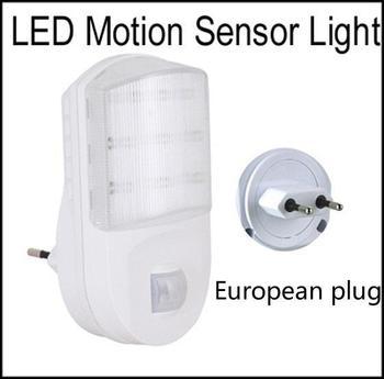 Powered Wall Plug 9 LED Motion Detector Sensor PIR Night Light  AC230V