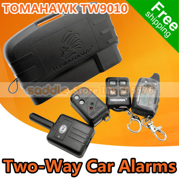 Dropshipping ! TOMAHAWK TW9010 Two-Way Car Alarm System with Engine Starter + Russian/English Version ! Free Shipping !