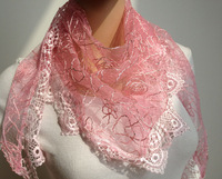 free shipping - promotion lace scarf triangle spring scarf