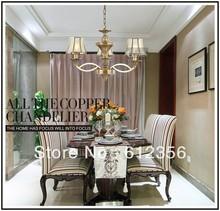 Fashion bedroom pendant light lighting lamps copper living room lights nd8360-3(China (Mainland))