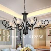 Fashion classic pendant light wrought iron lighting brief bedroom lamp living room lights b809-8
