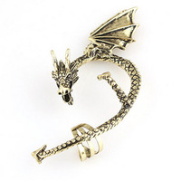 Vintage Dragon Ear Cuff Earrings Fashion Jewelry Animal Earring Clips  YE067