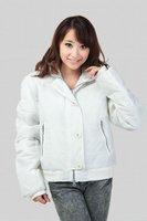 wholesale 4pecs winter autumn white black women female ladies fur collar hoody detachable coat jacket outwear clothing WMW600