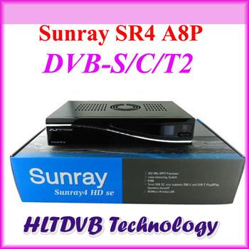 Sunray SR4 simcard a8p dm800hd se Triple Tuner Wifi Internal SIM A8P Satellite Receiver Wholesale Free Shipping