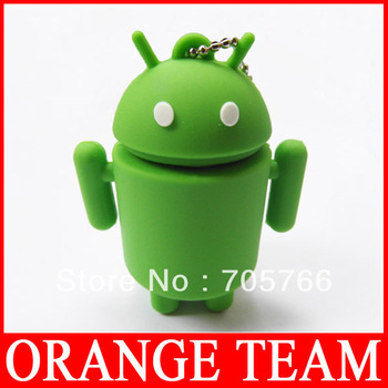 Free Shipping Lovely Android robert design USB flash drive disk 4GB/8GB/16GB/32GB USB 2.0