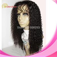 kinky curly lace wigs Brazilian virgin hair stock swiss lace full lace wig