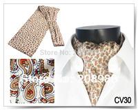 Hot Sale! Fashion men's ascot tie silk cravat tie ascot tie multi-color for choose #1446 + Free Shipping
