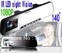 New Rear View Mirror 1080P FULL HD IR LED Car cam Video Camera Recorder Camcorder AVI (H.264)  2.7 LTPS