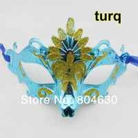2013 christmas promotion sale gold plating peacock plastic party mask mardi gras costume novelty wedding gift free shipping