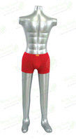 Inflatable Man Model,Full Body Stand,Silver PVC, FREE SHIPPING