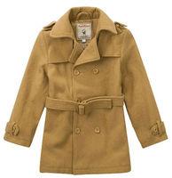 Wholesale 3pcs Autumn winter blue gray Children child boy Kids baby fleece woolen long wind coat jacket outwear top PEDS08P01