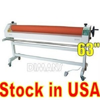 63'' Large Format Electric/manual cold roll laminator laminating machine Stock in USA