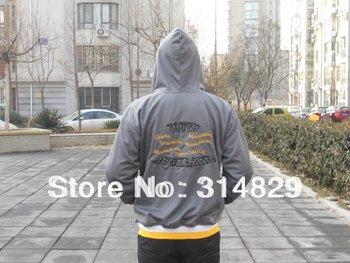 Free shipment  wholesaler   Men's Hooded custom Jacket Hooded Letterman Jacket Hooded Varsity Jacket