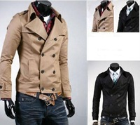 2014 New Fashion Double Breasted Men Jackets Coats/Brand Cotton Spring Jackets For Men/Casual Coats Men Clothing