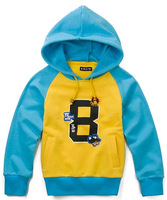 Wholesale 5 pcs Spring Autumn gray blue yellow Children boy Kids baby casual cotton hoody hooded sweater coat top PEQZ09P29