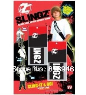 Free shiping, SLINGZ Hands Free Sport Strap,Slingz Skateboard Back Strap for Skateboard Longboard Radors,as seen on TV, 2pcs