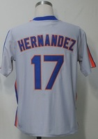 #17 Keith Hernandez Jersey,Throwback Baseball Jersey,Best quality,Embroidery Logos,Authentic Jersey,Size M--3XL,Can Mix Order