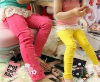 (5pieces/lot) Girl's Pants cotton Feet Pants autumn pants Girl's jeans cotton Hole Pencil pants Girl's Leggings