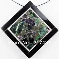 C0007 Free Shopping Beautiful Romantic Fashion Fluorite&pyrite Intarsia Pendant Bead 1pcs/lot