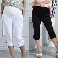 2014 Summer Trousers Maternity Pants Gravida Clothing Short Capris Pregnancy Goods Maternity Clothes for Pregnant Women Size XXL