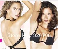 Free Shipping U Plunge Bra Super bra 2 super low-cut racerback formal dress dress underwear evening dress push up U Bra