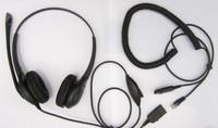 Binaural RJ connector Noise canceling Telephone headset call center headphone