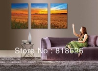 3 Panels Modern Craft Landscape Abstract Painting Canvas Decorative Wall Living Room Hanging Picture Print Art, Free Ship pt38