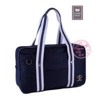 Candy sweet series cos student bag uniform package white bordered blue ribbon school bag