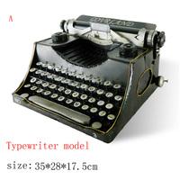 Antique craft typewriter model handmade craft home decoration bar coffee house display birthday gift