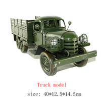 Antique craft Truck model handmade craft home decoration bar coffee house display birthday gift