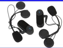 Free Shipping!!2x1000M Motorcycle BT Bluetooth Multi Interphone Headsets Helmet Intercom(China (Mainland))