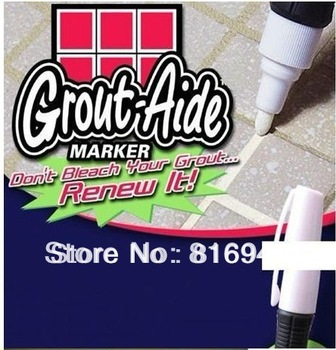 Free shipping AS SEEN ON TV Grout Aide & Tile Marker Repair Wall Pen, white,Retail packaging, 1PC
