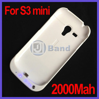 50pcs/lot Battery Case For Samsung Galaxy S3 mini i8190 Power Bank DHL Free Shipping