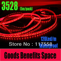 Big Promotion! Free Shipping 5M 3528 Led Strip Light 120 led/m Single Color Different Choices Waterproof
