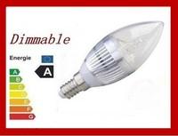 (100pcs/lot) Dimmable LED Candle Bulb light LED lamp 3W /4W/ 5W E14 AC 85-265V Cold white/warm white
