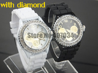 FREE SHIPPING Hot brand silicone watch diamond colorful cheap jelly watch kids gift student watch dropshipping