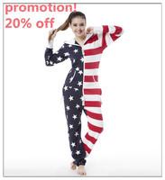 Stars and Stripes women one piece Jumpsuit /  American Flag one piece jumptsuit / bodysuit/sportwear