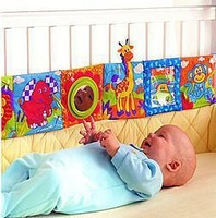 Baby toys Multifunctional gustless multi-colored baby plush cloth books bed bumpers