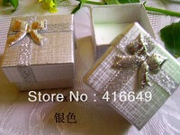 Hot Promotion ! Wholesale 120pcs/lot Mini silver Color Jewelry Ring Box 40x40x30mm Jewelry Packaging Gift Case Free Shipping