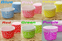 600pcs/lot Polka Dot Baking Paper Cups For Cupcake Muffin Cake Nut Case Liners Greaseproof Base 5cm Wedding Decor Free Shipping