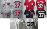 Free shipping-Washington Nationals #37 Stephen Strasburg White/Red/Grey/Blue/Cream jersey,Nationals jerseys