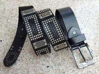 2013 Genuine Leather Man Woman Dress Belt Vintage Metal Rivets Belts For Women Brand Cowhide Strap Cinto Punk Waistband TBT0043