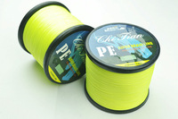 Free Shipping 1 piece 500M PE BRAID FISHING LINE Dyneema Spectra yellow line 28LB 30LB 35LB 40LB braided fishing line 500m