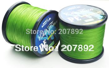 Available Free Shipping 1 piece 500M PE BRAID FISHING LINE Dyneema Spectra green 28LB 30LB 35LB 40LB braided fishing line 500m