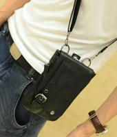2014 NEW Summer male street casual high quality PU small waist pack messenger bag man bag